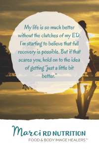 Hope for recovery from eating disorders.