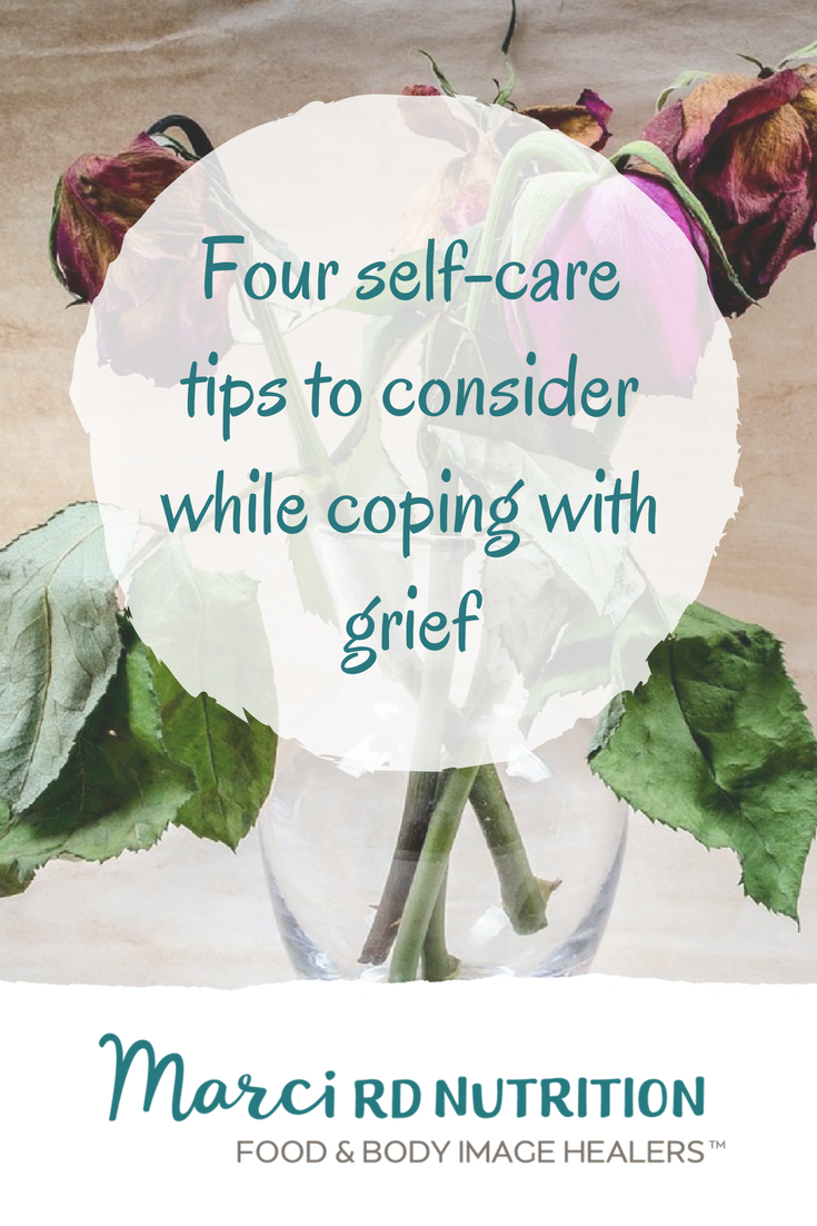 Four self-care tips to consider when coping with grief during eating disorder recovery.
