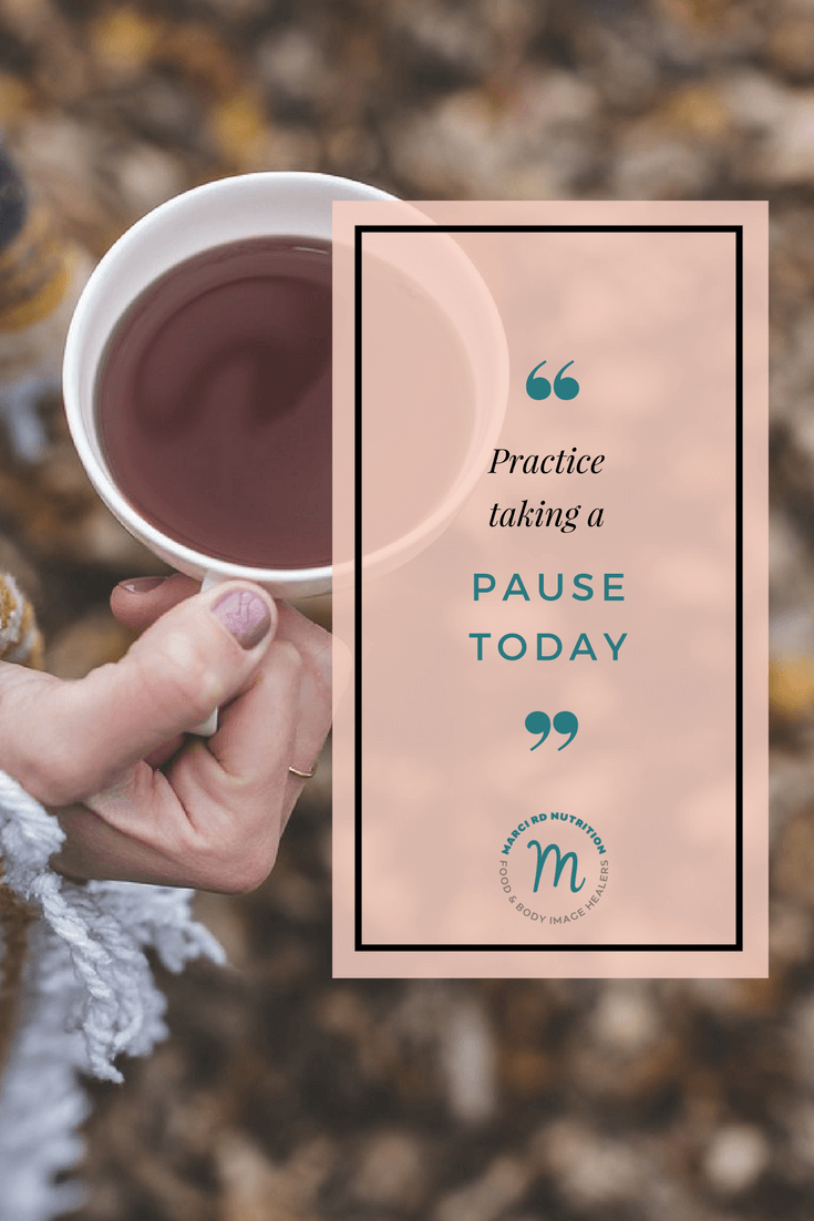 Take a mindful pause today.
