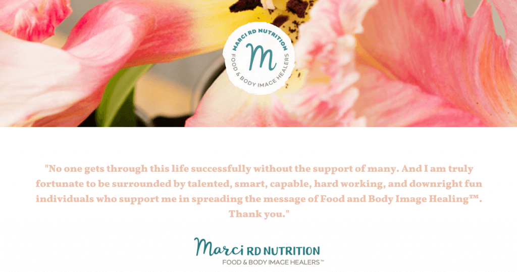 thank you marci rd nutrition