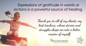Expressions of gratitude are a powerful source of healing