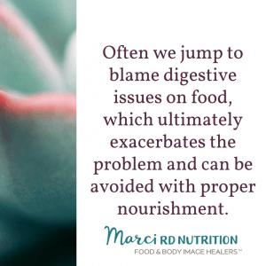 proper nourishment improves digestion