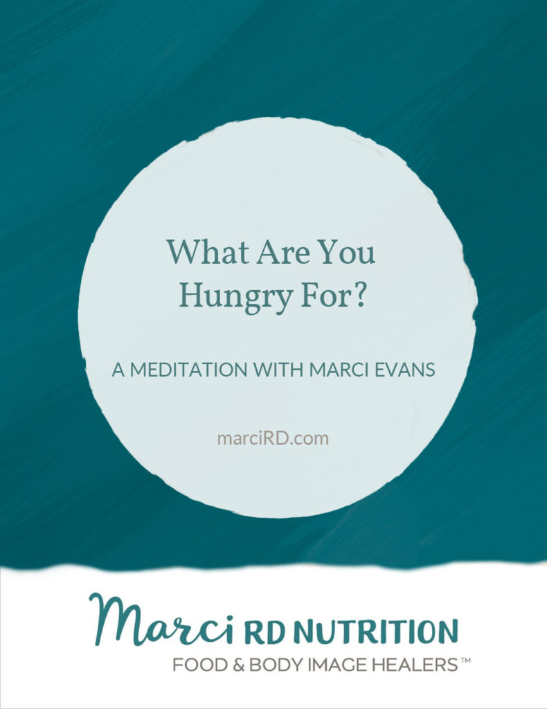 What Are You Hungry For meditation