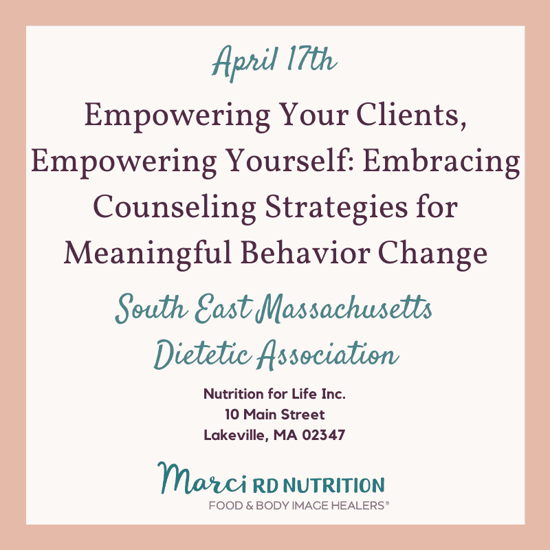 boston speaking event for dietitians
