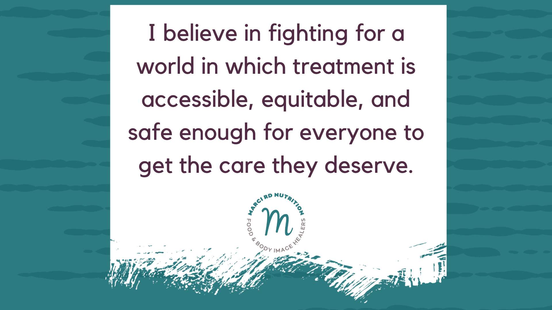 eating disorder treatment needs to be accessible, equitable, and safe enough for everyone
